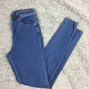 Forever 21 Stretchy Skinny Fit Blue Jeans